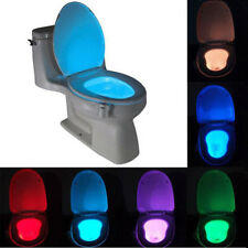 8 Colours LED Toilet Bathroom Night Light Motion Activated Seat Body Sensor LOO