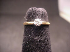 14K Gold Diamond Engagement Ring Vintage Solitaire .10TCW SZ 5 Wedding Promise