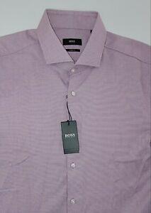 NWT HUGO BOSS  DRESS SHIRT SHARP FIT MEN'S SIZE 17.5 34/35