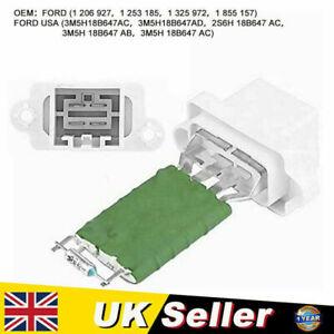 Motor Heater Fan Blower Resistor Fit For Ford Fiesta Mk5/MK6 1325972 1206927 UK