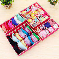 US 4pcs Organizer Drawer Storage Holder Box For Bra Underwears Socks Lots