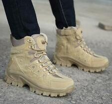 Mens High Top Military Tactical Boots Desert Army Hiking Combat Ankle Boots Plus