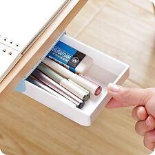 Self-Stick Pencil Tray,Under Desk Holder Pop-up Pen Storage Drawer Organizer