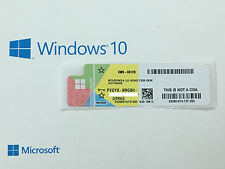 Microsoft Windows 10 Home COA License Sticker / Label 32 & 64 bit