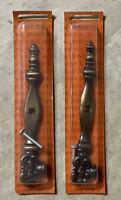 Vintage Amerock Antique English T-715 Key & Backplate Drawer Pull Set