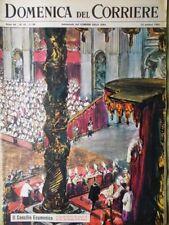 La Domenica del Corriere 14 Ottobre 1962 Papa Giovanni XXIII Concilio Ecumenico