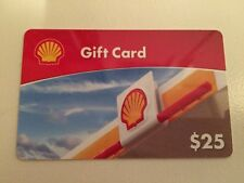 Unused $25 Shell Gift Card