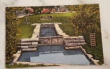 Postcard Lock Used by Early Indians Sault Ste. Marie Ontario