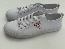 NEW! GUESS CATCHING WOMEN'S WHITE SIGNATURE LOGO SNEAKERS SHOES 9 39 SALE