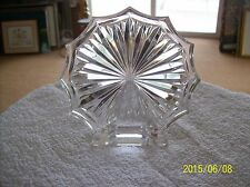 Waterford Crystal Vintage Starburst Paperweight Desk Plaque Signed