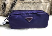Nwt Authentic Prada Fuchsia Dark Purple Nylon Travel Cosmetic Case Bag Pouch