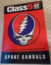 1994 GRATEFUL DEAD Merchandise - Class 5 Sport Sandals Promo SIGN OOP/OOB RARE