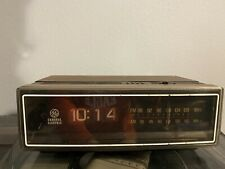 Vintage Ge Alarm Clock Radio Flip Time