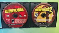 Borderlands 1 + 2 -  Sony PlayStation 3 PS3 Lot Game Tested & Working