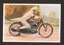 Dirt Track Motorcycle Racing Vintage 1932 Sanella Sports Card A