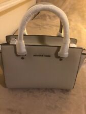 Michael Kors Selma Leather Medium Satchel Cement 30T3SLMS2L Brand New