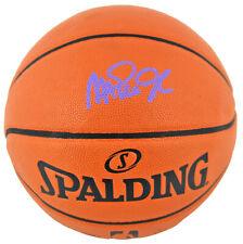 Lakers Magic Johnson Signed Spalding Basketball w/ Purple Signature BAS Witness