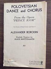 "Polovetsian Dance And Chorus from Opera ""Prince Igor"" (1937) Alexander Borodin"