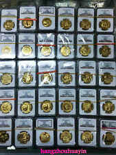 master set 1982 to 2015 panda 1.9oz gold coins all 169 coins in NGC MS69