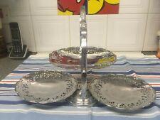 Soporte de la torta de VonShef 3 niveles de acero inoxidable titular de visualización de fiesta de la Magdalena