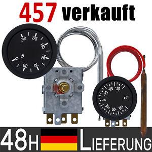 Einbauthermostat mit Fernfühler Kapillar Thermostat HEIZEN KÜHLEN 230V 16A SPDT