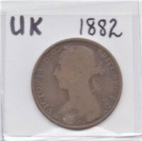 UK Great Britain (England) 1882 Penny Queen Victoria as pictured