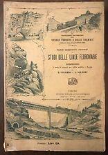 Colombo Solerti ESPROPRIAZIONI UTET 1900ca V1 P1 C4 FADDA STRADE FERRATE TRAMVIE