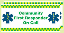 Community First Responder on Call.(Vehicle Magnetic Signs) . x 2. Size 410x200mm