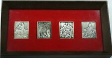 Norman Rockwell 4 Freedoms Pure Silver Ingot Set in Wooden Frame