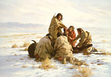 Howard Terpning THE LAST BUFFALO art print, Bison, Native American $978/1000
