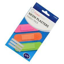 2x nuevo 75 Neon Impermeable yesos acolchado de primeros auxilios libre de látex estéril Band Aid