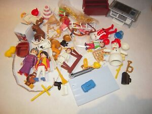 VINTAGE PLAYMOBIL VICTORIAN CHRISTMAS FIGURES AND PIECES FROM ADVENT CALENDAR