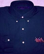 New Polo Ralph Lauren Boys Blue Corduroy Oxford Shirt L/S Match Logo 4 4T NWT