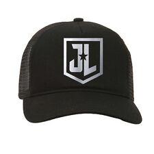 JL Justice League Logo DC Superhero FX Adult Black Baseball Trucker Cap