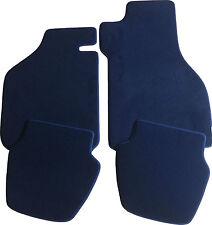 Passend für BMW 5er E34 Limousine Fußmatten in Velours Deluxe dunkelblau