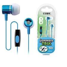 Coby CV-EM89BL Jammerz Talk Earbuds w/Mic CVEM89 Blue