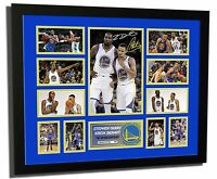 KEVIN DURANT & STEPHEN CURRY 2016/2017 SIGNED LIMITED EDITION FRAMED MEMORABILIA