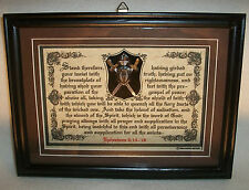 "New! Bible Verse Plaque/Signs""The Whole Armor of God-Pt.2""Christian,Framed Gifts"