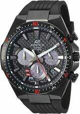 CASIO EQS800CPB-1 Edifice Solar Resin Stainless steel Black Men's Watch
