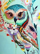 FLORAL OWL MOSAIC DIAMOND PAINTING PAINT BY NUMBERS KIT 5D CROSS STITCH