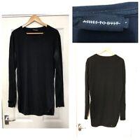 Ashes To Dust Long Sleeve T Shirt Unique Blouse Mens Size Large L Black (C299)