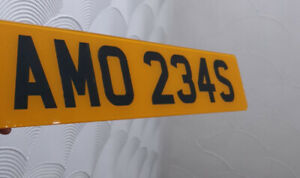 AMO 234S PRIVATE REG CHERISHED NUMBERS PRIVATE PLATE DATELESS AMMO WAR MILITARY