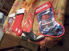 Kitty, Cowboy Boot, Spiderman Christmas Stockings TAKE A LOOK!