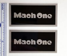 Mach One Speaker badge logo plate Realistic