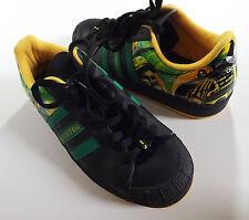 NUOVO RARO 2006 Adidas Originals KINGSTON GIAMAICA RASTA GIAMAICA Scarpe Da Ginnastica Nero 8