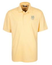 Oxford NCAA Emory University Men's Micro-Check Golf Polo Shirt, Citrus, Medium
