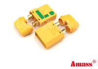 AMASS Genuine XT90-S Anti Spark Male Female Connector 4.5mm Banana Li-PO 2 PAIRS