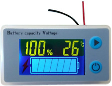 Cptdcl Multifunction 12V Lcd Lead Acid Battery Capacity Meter Voltmeter Tempe.