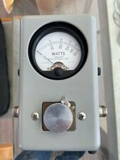 Bird 43 Thruline Wattmeter Watt Meter / Mint with Leather Case & Many Adapters