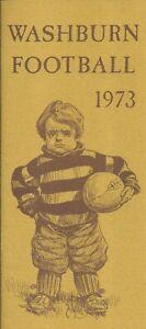 1973 Washburn Ichabods Football Media Guide HC Bob Noblitt
